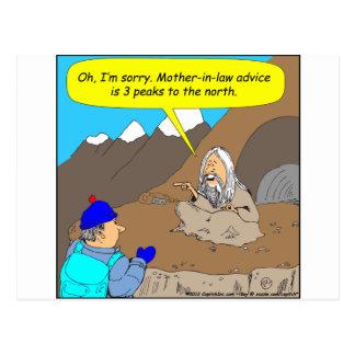 Dibujo animado del consejo de la suegra del gurú A Postal
