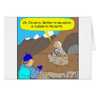 Dibujo animado del consejo de la suegra del gurú A Tarjeta De Felicitación