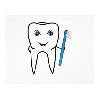 Dibujo animado del diente flyer a todo color