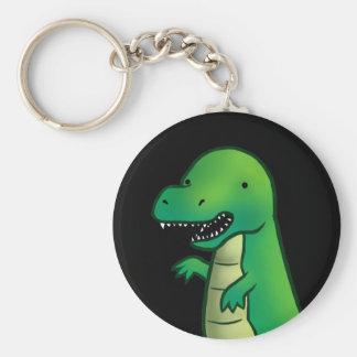 Dibujo animado del dinosaurio de Rex del Tyrannosa Llavero Redondo Tipo Chapa