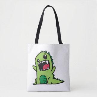 Dibujo animado del dinosaurio del bebé bolsa de tela