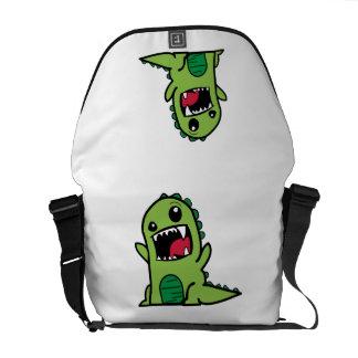 Dibujo animado del dinosaurio del bebé bolsas de mensajeria