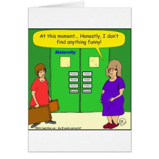 dibujo animado del empuje de la sala de maternidad tarjeta de felicitación
