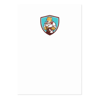 Dibujo animado del escudo del especialista de la tarjetas de visita grandes