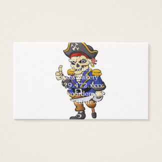 dibujo animado del esqueleto del pirata tarjeta de negocios