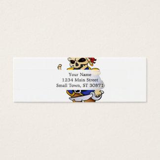 dibujo animado del esqueleto del pirata tarjeta de visita pequeña