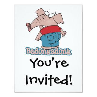 dibujo animado del extremo del elefante del invitación 10,8 x 13,9 cm