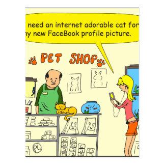 dibujo animado del gato de 512 facebook postal