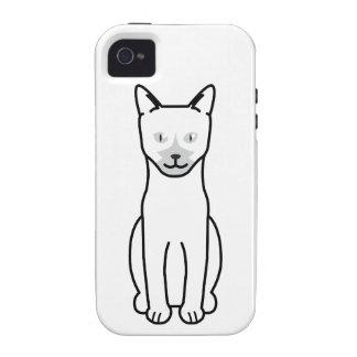 Dibujo animado del gato de Ojos Azules iPhone 4 Carcasa