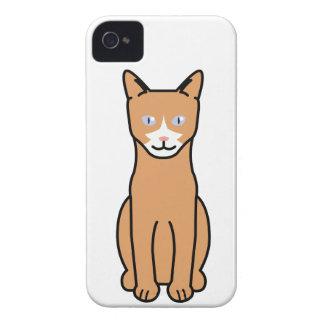 Dibujo animado del gato de Ojos Azules iPhone 4 Protectores