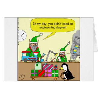 dibujo animado del grado de ingeniería del duende tarjeta de felicitación