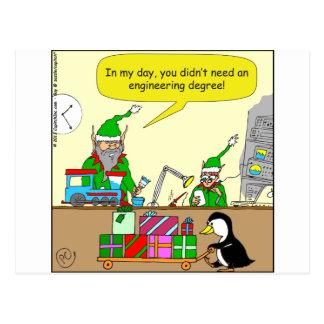 dibujo animado del grado de ingeniería del duende tarjetas postales