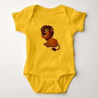 Dibujo animado del león body para bebé