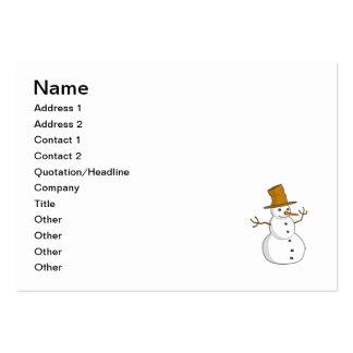 Dibujo animado del muñeco de nieve tarjetas de visita grandes
