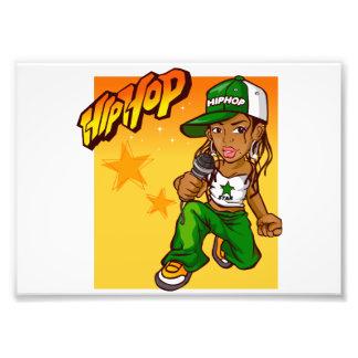 dibujo animado del naranja del verde del chica del arte con fotos