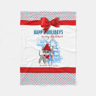 Dibujo animado del navidad del perrito de la nariz manta polar