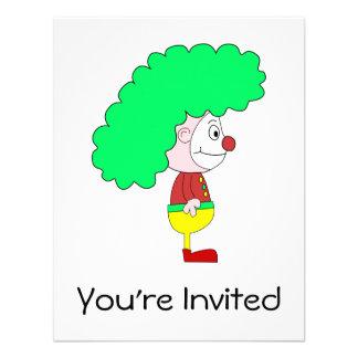 Dibujo animado del payaso. Amarillo, rojo y verde Anuncios Personalizados