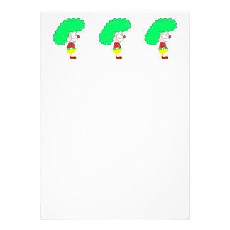 Dibujo animado del payaso Amarillo rojo y verde