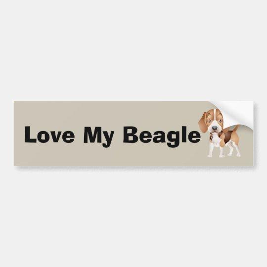 Dibujo animado del perrito del beagle pegatina para coche