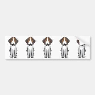 Dibujo animado del perro de caza de Halden Pegatina Para Coche