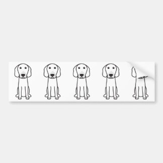 Dibujo animado del perro de caza de Hanoverian Pegatina Para Coche