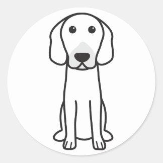 Dibujo animado del perro de caza de Hanoverian Pegatina Redonda