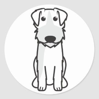 Dibujo animado del perro de caza de Roughcoated de Pegatina Redonda