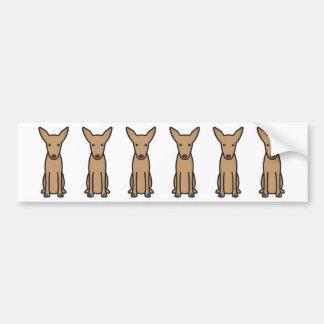 Dibujo animado del perro de caza del Pharaoh Pegatina Para Coche
