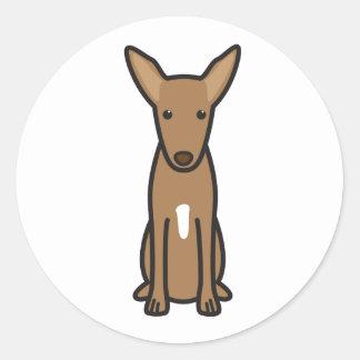 Dibujo animado del perro de caza del Pharaoh Pegatina Redonda
