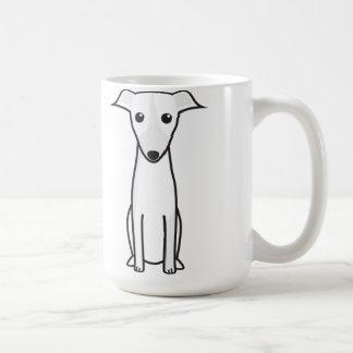 Dibujo animado del perro de Galgo Español Taza Básica Blanca