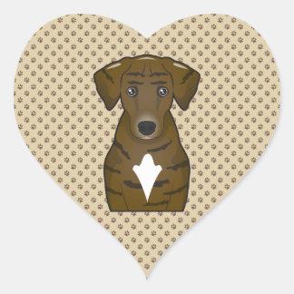 Dibujo animado del perro de Plott Calcomanías Corazones
