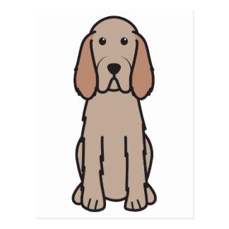 Dibujo animado del perro de Spinone Italiano Postal
