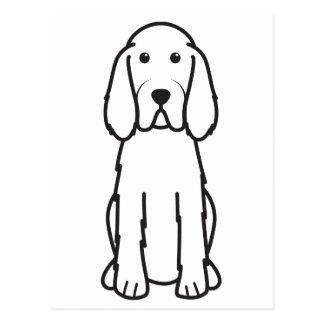 Dibujo animado del perro de Spinone Italiano Tarjetas Postales