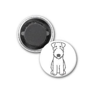 Dibujo animado del perro de Terrier de azul de Ker Imán Redondo 3 Cm