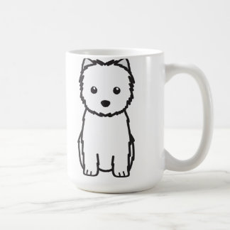 Dibujo animado del perro de Terrier de mojón Tazas