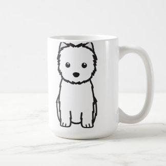 Dibujo animado del perro de Terrier de mojón Taza Básica Blanca