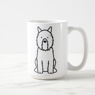 Dibujo animado del perro del DES Flandres de Bouvi Taza