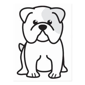 Dibujo animado del perro del dogo postal