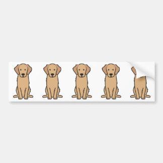 Dibujo animado del perro del golden retriever pegatina para coche