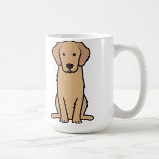 Dibujo animado del perro del golden retriever taza clásica