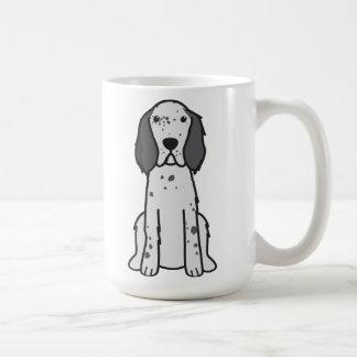 Dibujo animado del perro del organismo inglés taza