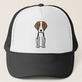 Dibujo animado del perro del raposero americano gorra de camionero