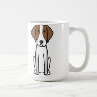 Dibujo animado del perro del raposero americano taza de café