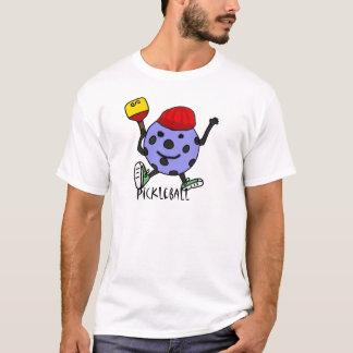 Dibujo animado divertido del carácter de la bola camiseta