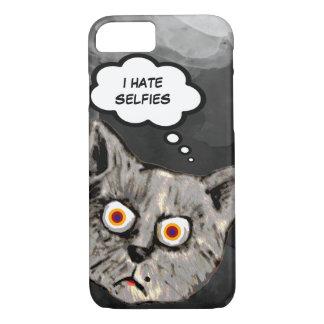 dibujo animado divertido del gato de los selfies funda iPhone 7