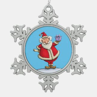 Titulares de Navidad de peltre