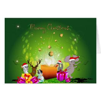 Dibujo animado divertido del navidad felicitaciones