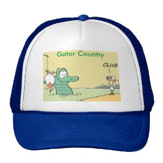 Dibujo animado divertido del país del cocodrilo gorras