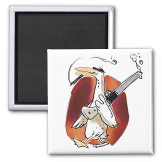 dibujo animado divertido del pato fresco del imán