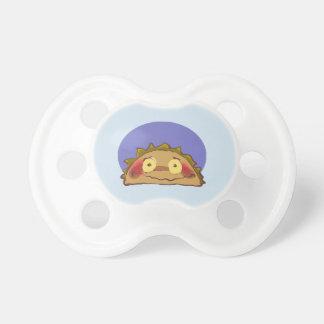 dibujo animado divertido del taco tímido chupetes para bebes